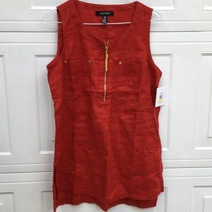 NWT Ellen Tracy  linen top size medium